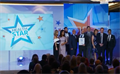 Pre-pip Sepsis team on stage at GMB Health Star Awards