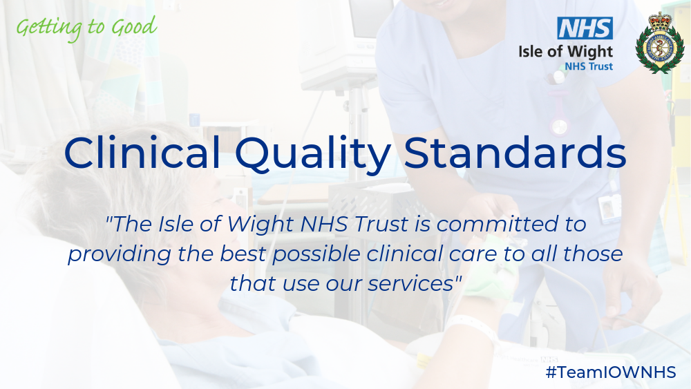 Clinical Quality Standards Website banner