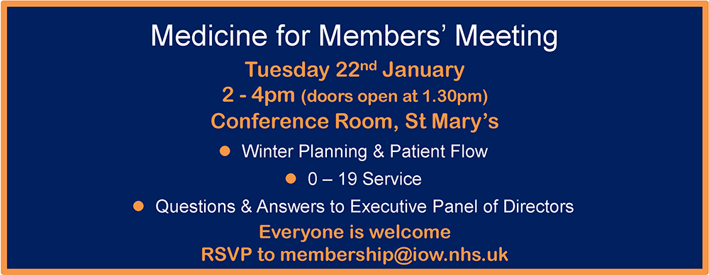 Medicine for Members' Meeting