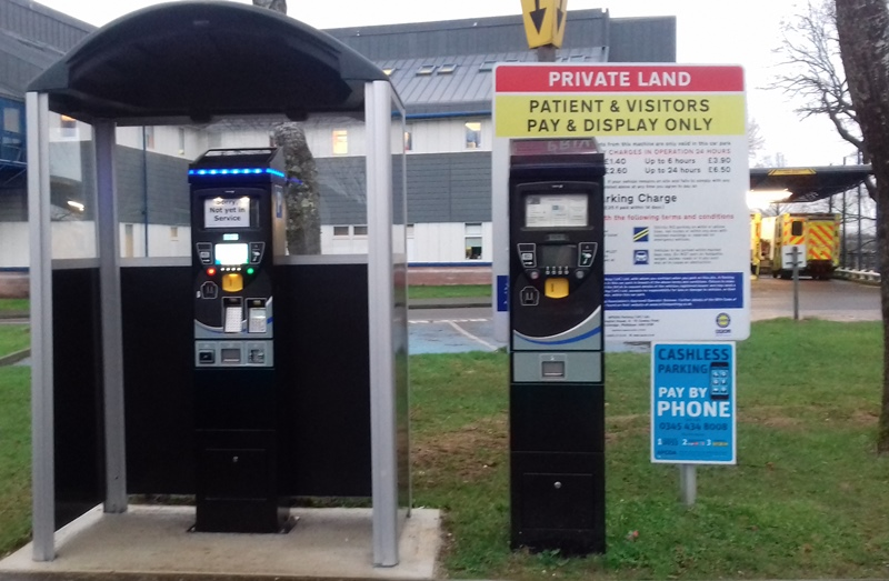 New & old parking machines