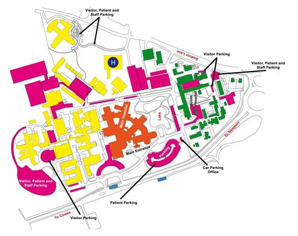 Map of St Marys Hospital